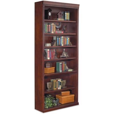 Huntington Club Seven-Shelf Bookcase - Vibrant Cherry