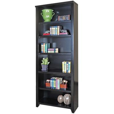 "Tribeca Loft 84"" Bookcase - Midnight Smoke Black"