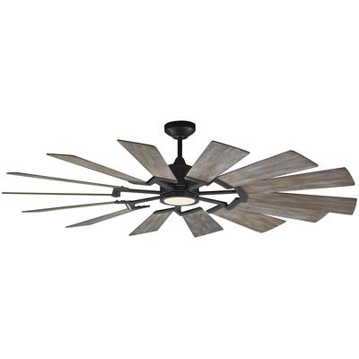 "Prairie 62"" Ceiling Fan - Aged Pewter"