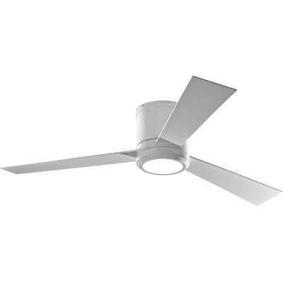"""Clarity 52"""" 3-Blade Ceiling Fan - Matte White"""