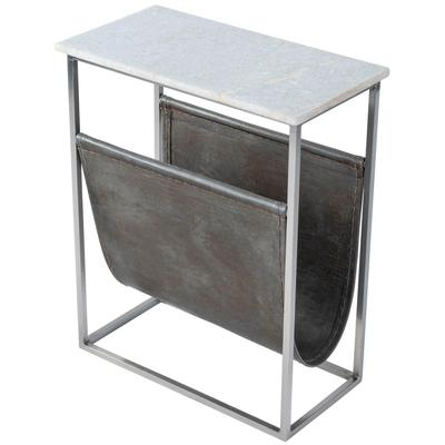 Butler Loft Koler Marble and Leather Magazine Table