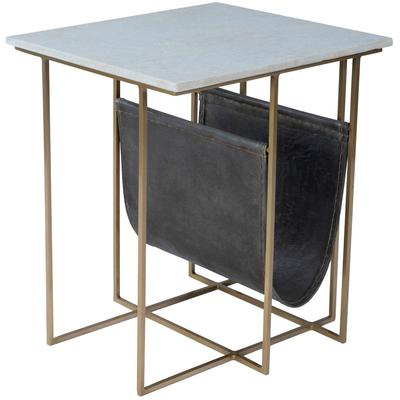 Butler Loft Stephanik Marble and Leather Magazine Table