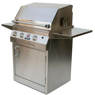 """27"""" Deluxe Infrared Grill with Rotisserie Burner on Square Cart - Natural Gas"""