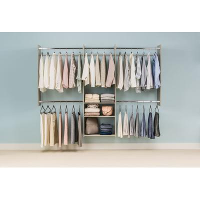 4'-8' Deluxe Starter Closet Kit - Weathered Grey