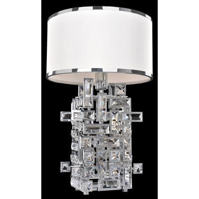 Vermeer 1-Light Table Lamp - Chrome