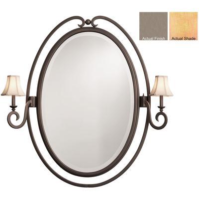 Santa Barbara 2-Light Oval Mirror - Country Iron