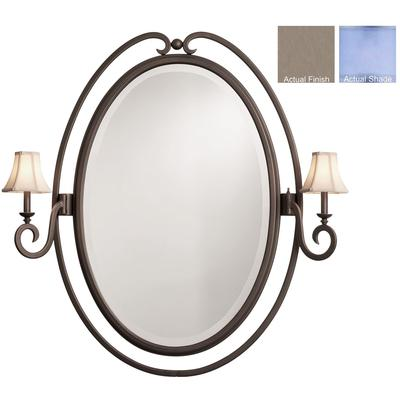 Santa Barbara 2-Light Oval Mirror - Country Iron