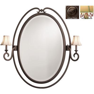 Santa Barbara 2-Light Oval Mirror - Tortoise Shell