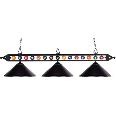 Designer Classics 3-Light Pool/Billiard Light - Matte Black