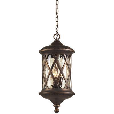 Barrington Gate 3-Light Outdoor Pendant - Hazelnut Bronze