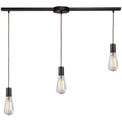 Menlow Park Linear Bar 3-Light Hanging Fixture - Oiled Bronze
