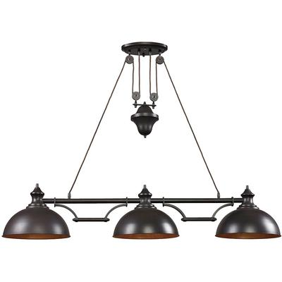 Landmark Lighting Farmhouse 3-Light Island Pendant