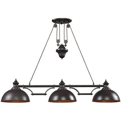 Farmhouse 3-Light LED Billiard Light - Oiled Bronze