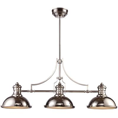 Chadwick 3-Light LED Billiard Light - Polished Nickel