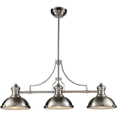Chadwick 3-Light LED Billiard Light - Satin Nickel