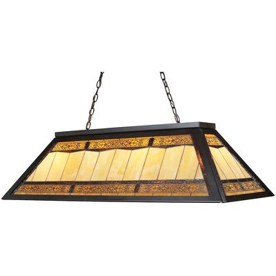 Tiffany 4-Light LED Billiard Light - Tiffany Bronze