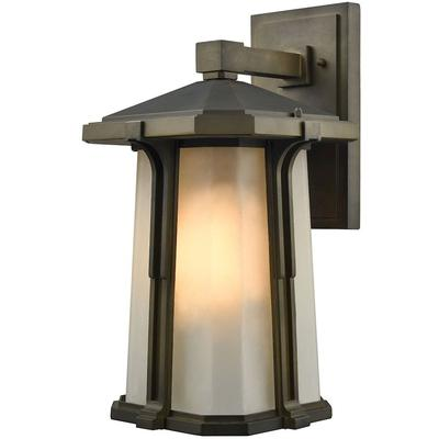 Brighton 1-Light LED Outdoor Wall Sconce - Smoked Bronze