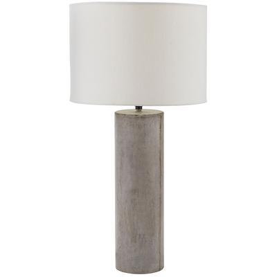 Cubix Round Desk Lamp - Concrete