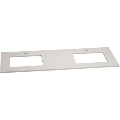 """61"""" x 22"""" TechStone Vanity Top, 3/4"""" Thick - Wide White"""