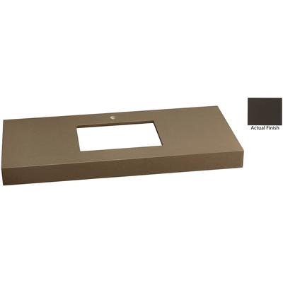 """48"""" x 22"""" TechStone WideAppeal Vanity Top, 4"""" Thick - Stone Gray"""