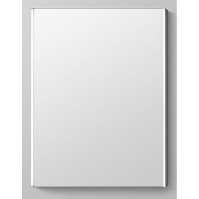 "24"" Parker Framed Bathroom Mirror with LED Light Border - Satin Aluminum"