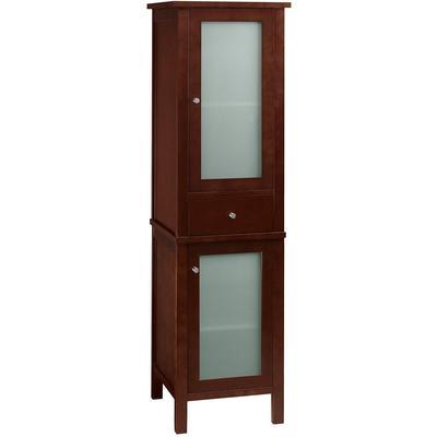 """19"""" Baughman Linen Cabinet Storage Tower Dark Cherry"""