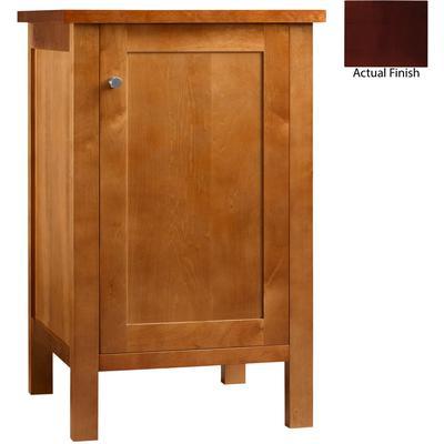 """19"""" Albany Bathroom Side Cabinet with Wood Door - Dark Cherry"""