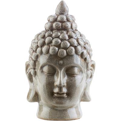 Buddha Ceramic Buddha  -  Light Gray