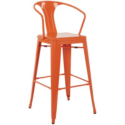 Set of 4 Patterson Cafe Stools - Orange
