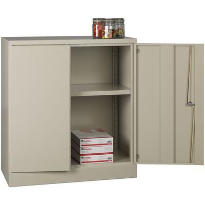 "42"" High Storage Cabinet with 1 Adjustable Shelf - Putty"