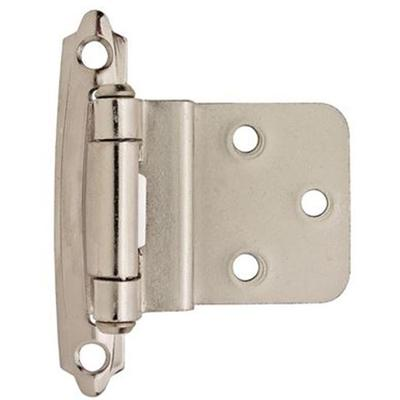 """3/8"""" (10 mm) Inset Self-Closing, Face Mount Hinge - 2 Pack - Polished Chrome"""