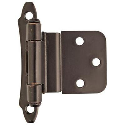 "3/8"" (10 mm) Inset Self-Closing, Face Mount Hinge - 2 Pack - Oil Rubbed Bronze"