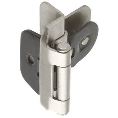 "3/8"" (10 mm) Inset Double Demountable Hinge - 2 Pack - Satin Nickel"