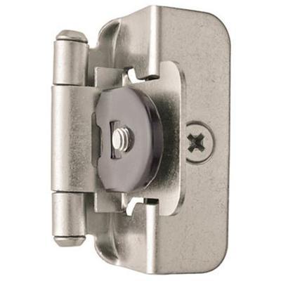 1/2in (13 mm) Overlay Double Demountable Hinge - 2 Pack - Satin Nickel