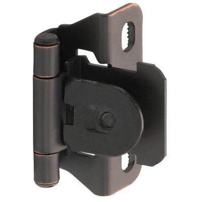 "1/4"" (6 mm) Overlay Single Demountable, Partial Wrap Hinge - 2 Pack - Oil Rubbed Bronze"