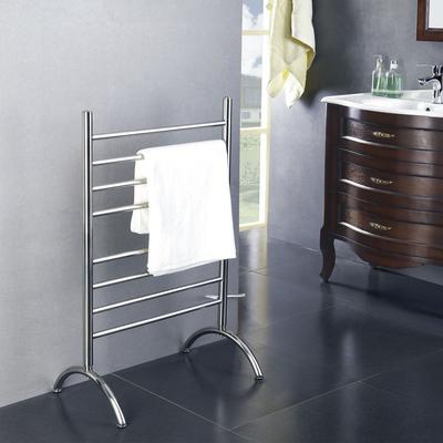 Barcelona Freestanding 8-Bar Towel Warmer - Brushed Stainless Steel