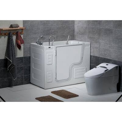 Free Standing Walk-In Acrylic Tub with 16 Heated Air Jets & Left-Hand Drain