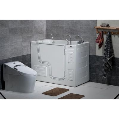 Free Standing Walk-In Acrylic Tub with 16 Heated Air Jets & Right-Hand Drain