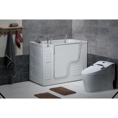Free Standing Walk-In Acrylic Tub with Left-Hand Drain