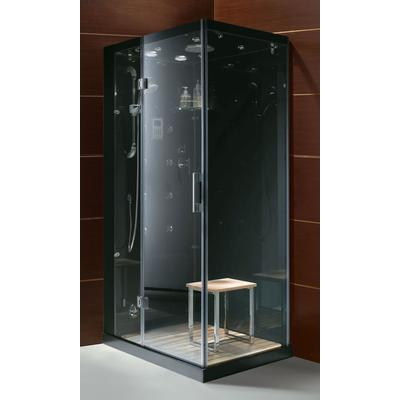 Jupiter Personal Steam Shower with Controls on Left