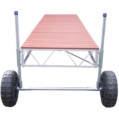 24' Straight Roll-In Dock With Brown Aluminum Decking