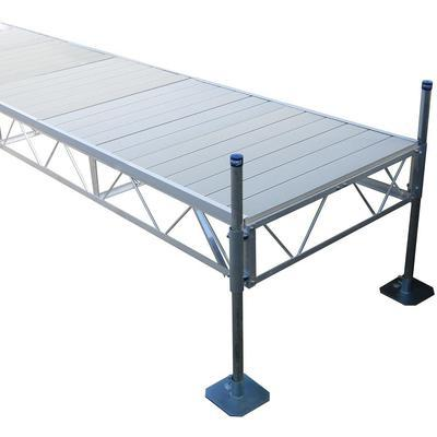 32' Patio Dock With Gray Aluminum Decking