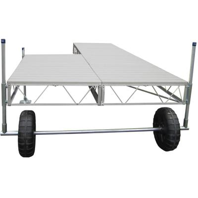 32' Patio Roll-In Dock With Gray Aluminum Decking