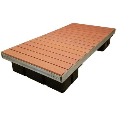 Low Profile Floating Platform Section With Brown Aluminum Decking