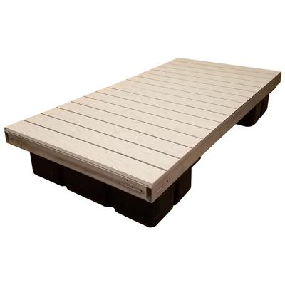 Low Profile Floating Platform Section With Gray Aluminum Decking