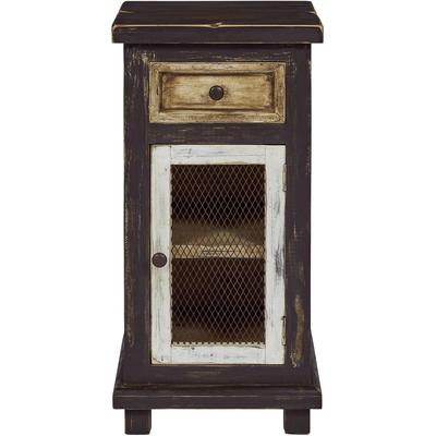 Stella Small Chairside Cabinet - Dark Chocolate Caramel