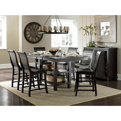 Willow Black Rectangular Counter Table