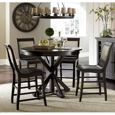Willow Black Round Counter Table