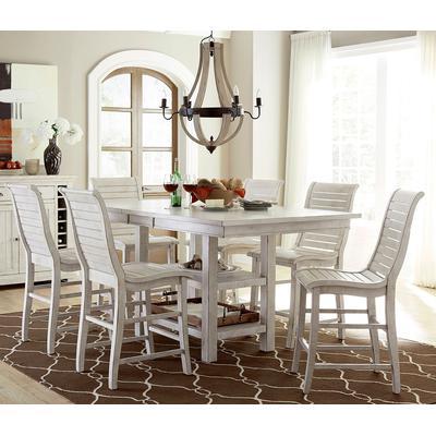 Willow White Rectangular Counter Table