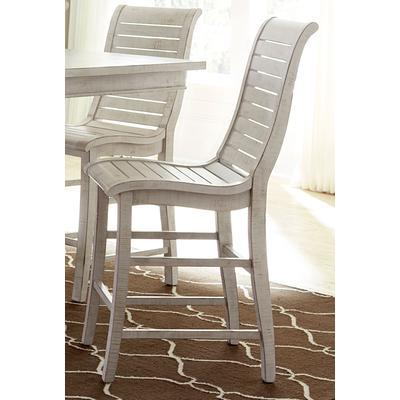 Willow Counter Chair (Set of 2) - Distressed White